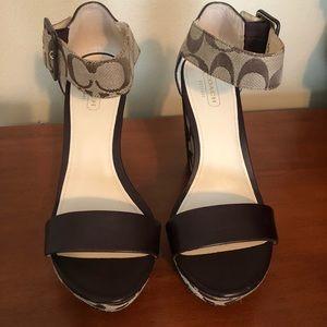 Coach women's Jerri Brown wedge sandals size 7.5